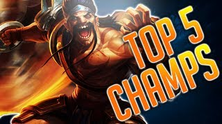 TOP 5 SOLOQ CARRIES - Best[e] Champions in LoL ➡️ Carry [Deutsch GERMAN]