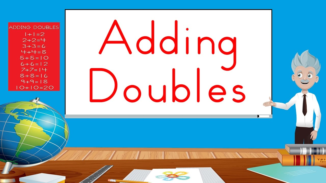 worksheet Addition Doubles adding doubles fun math song for kids jack hartmann youtube