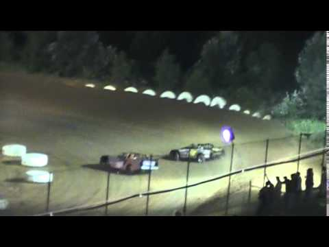 Crowley's Ridge Raceway 8/9/14 #21 Chris Sims Street Stock Heat Race