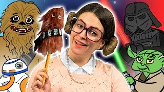 Star Wars Chewbacca Pencil Topper Craft | Arts And Crafts With Crafty Carol At Cool School