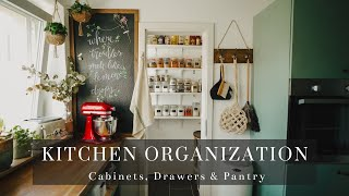 #7 Small Kitchen Organization: Cabinets, Drawers & Pantry