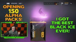Opening 150 Alpha Packs || I Finally Got My Dream Black Ice!