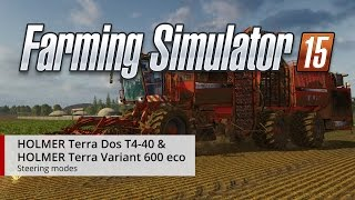 Farming Simulator 15 HOLMER DLC Steering Modes