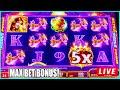 MAX BET BONUS! Cobra Hearts Slot Machine Live Play at The Casino