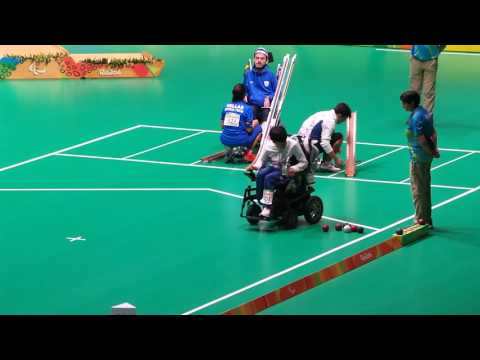 Rio Paralympic Boccia BC3 Individual event Final match 1st end