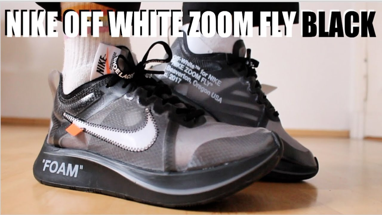 7fdc5b3519cf NIKE OFF WHITE ZOOM FLY BLACK REVIEW + ON FEET   SIZING - YouTube