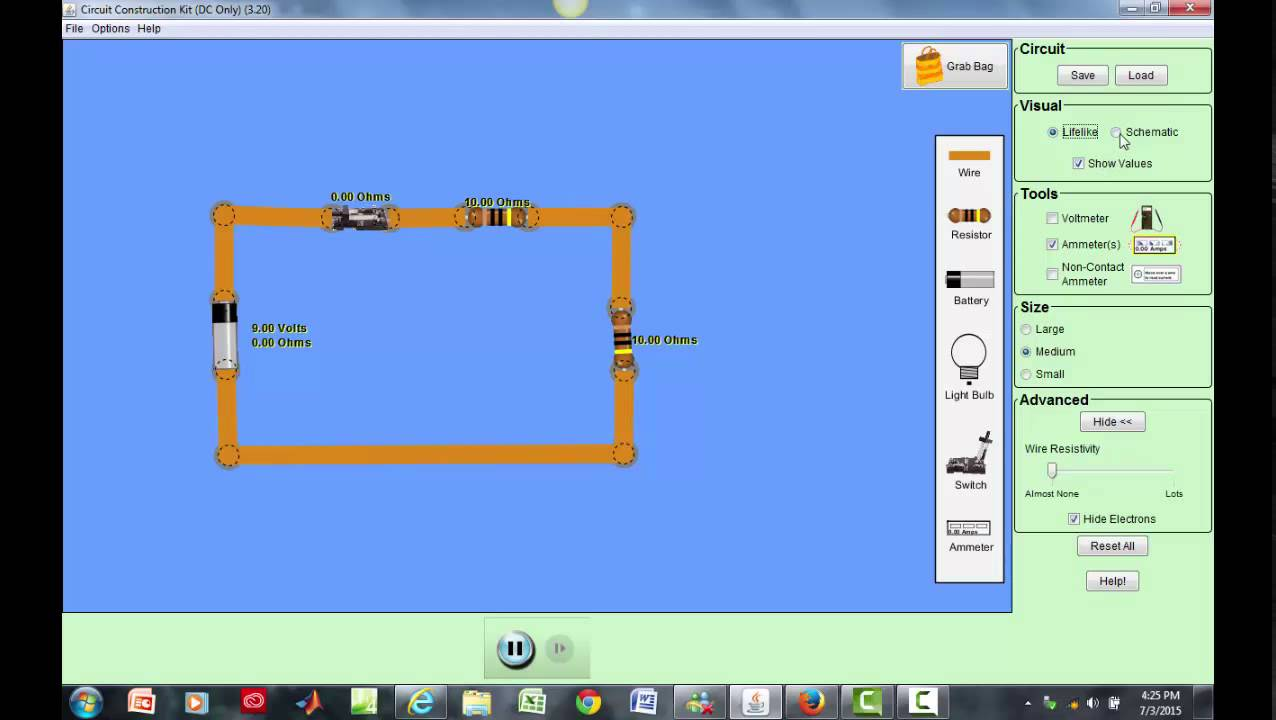 Phet Simulation A Short Introduction On Circuit Schematics Youtube Construction Kit Dc Only