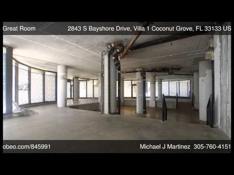 2843 S Bayshore Drive, Villa 1 Coconut Grove FL 33133