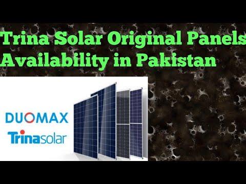 Trina Solar Original Panels Availability In Pakistan