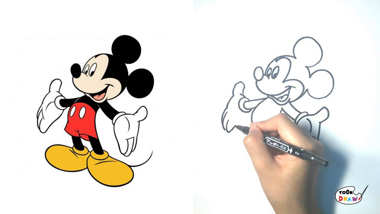 Mickey mouse how to draw mickey mouse step by step for How to draw with a mouse