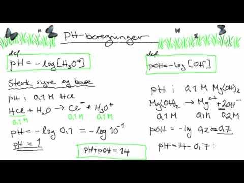 pH-beregninger