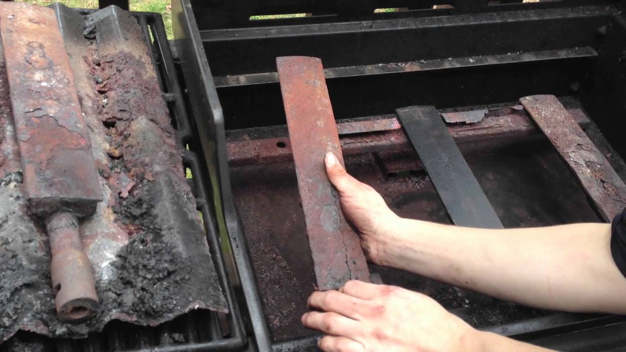 Gas Grill Repair Replace Grill Burner Cast Iron Youtube