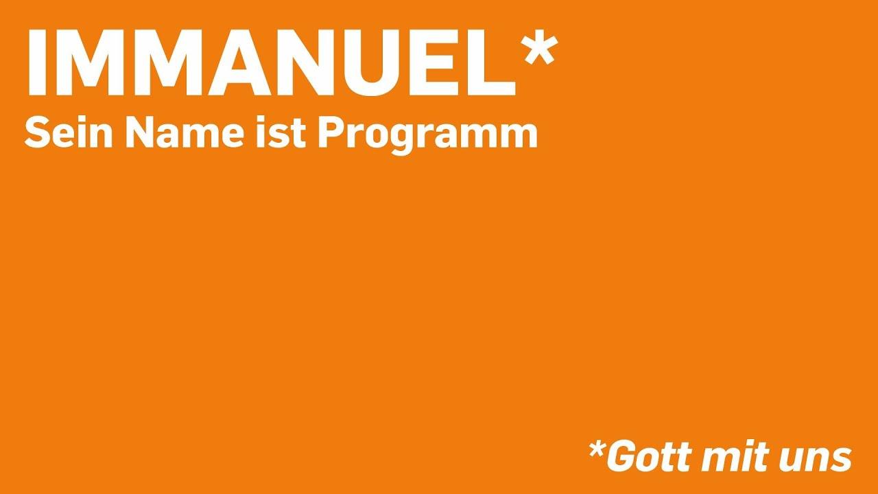 Immanuel: Sein Name ist Programm - Gott mit uns in der Stille - YouTube