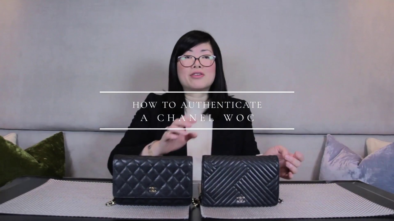 90479a23a37c96 Luxury Promise How to authenticate a Chanel WOC? - YouTube