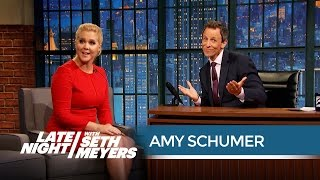 amy schumer on the drawbacks of living alone late night with seth meyers