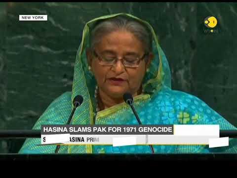 Bangladesh PM targets Pak at UNGA