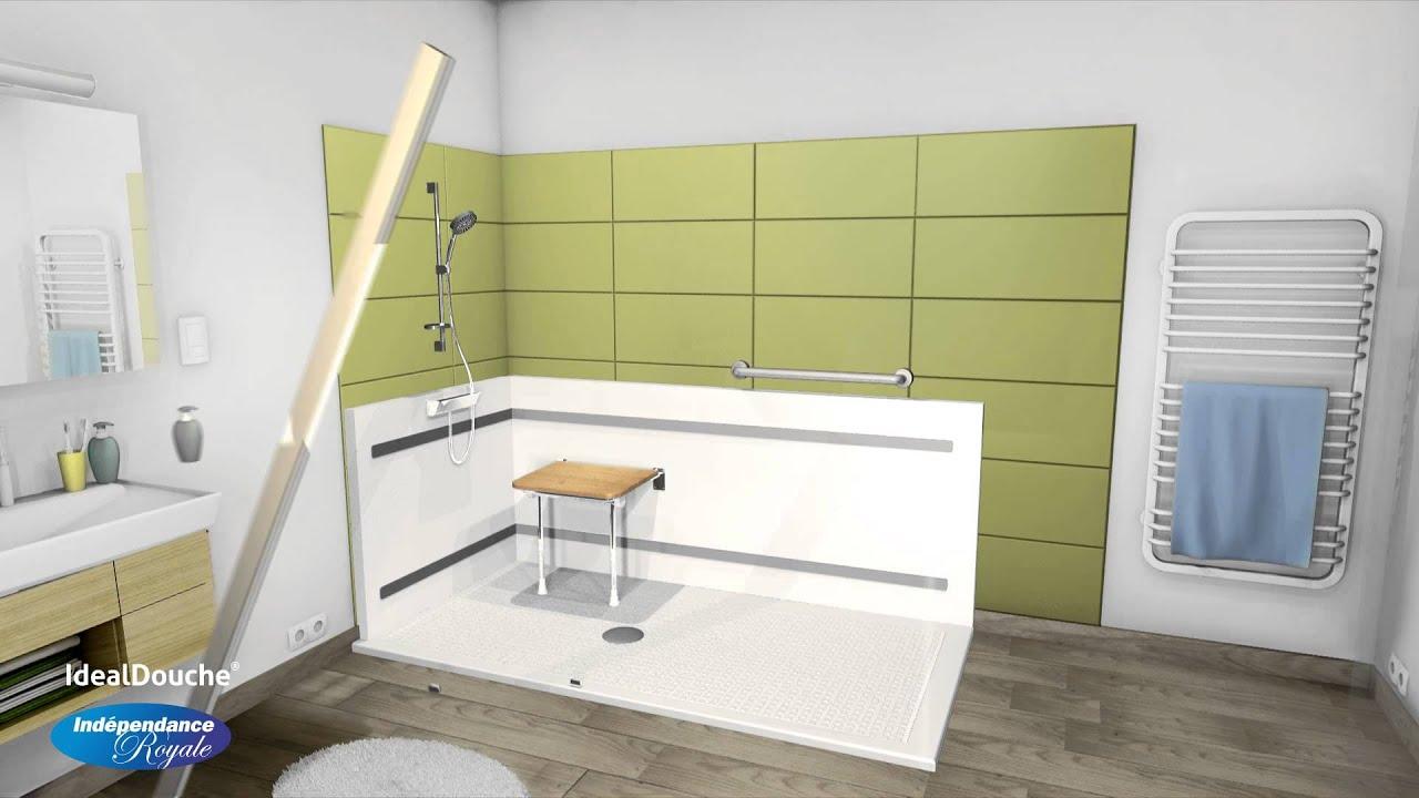ideal douche douche de plain pied en 3d independance. Black Bedroom Furniture Sets. Home Design Ideas
