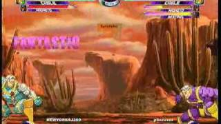 MvC2 Online (360): Josh 360 (Row) vs Phocus (Row) 3 .:1.5.10:.