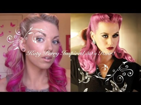 Katy Perry Inspired 50's Hair!