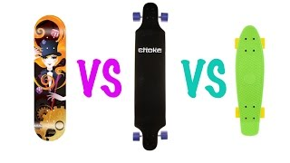 Что лучше: скейт, лонгборд или круизер?(Это видео поможет вам выбрать вид скейта, который подходит для вас больше! MrExtremeBy в социальных сетях: ВКОНТА..., 2014-09-20T15:46:54.000Z)