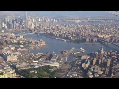 Landing in LaGuardia LGA New York