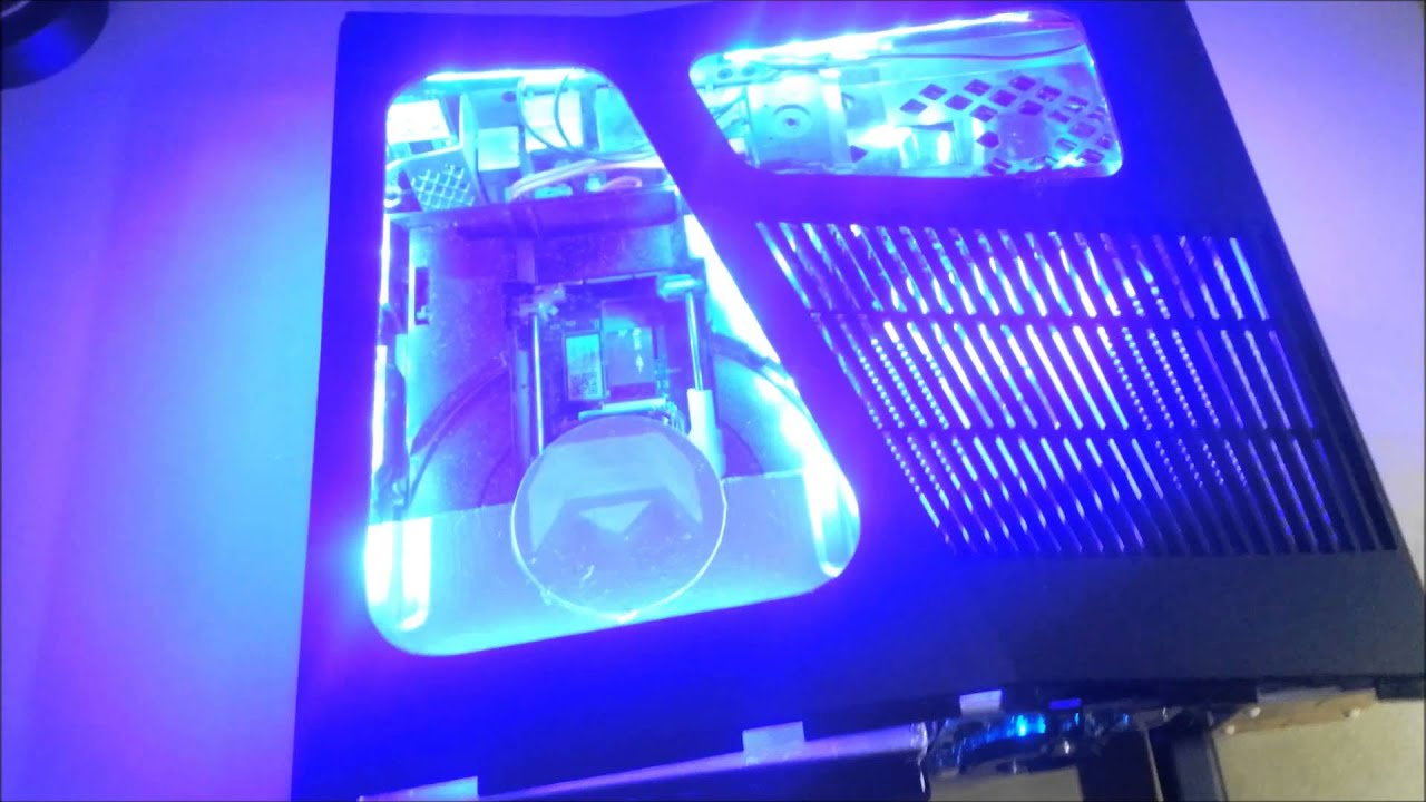 Xbox 360 Slim LED Window Modded (pre finished)