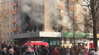 В Москве пожар на Изумрудной улице 22.03.2017