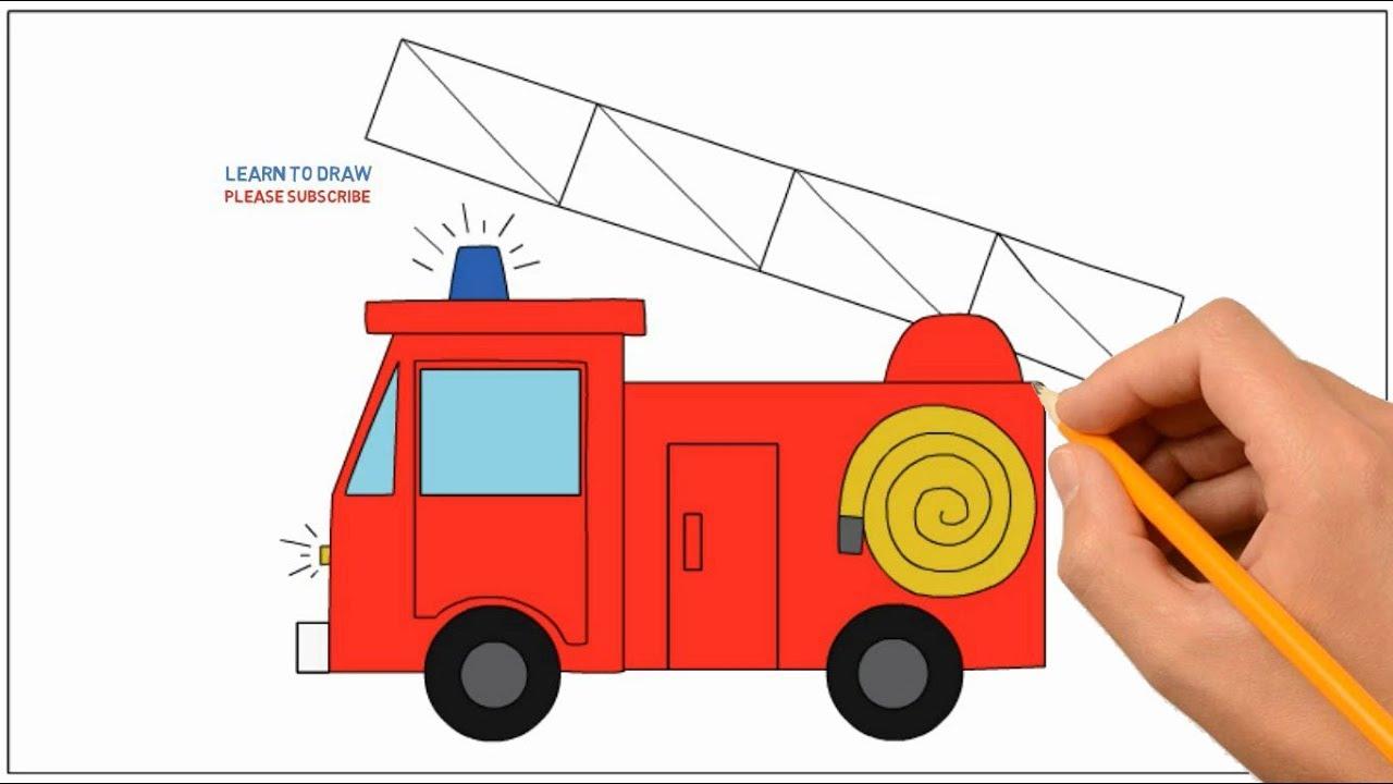 рисование пожарной машины в подготовительной группе інформацію