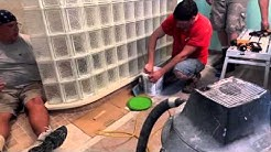 How to Grout a Glass Block Wall Using Urethane Grout