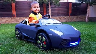 Funny Paw Patrol Unboxing And Assembling The POWER WHEEL Ride On New Black Lambo