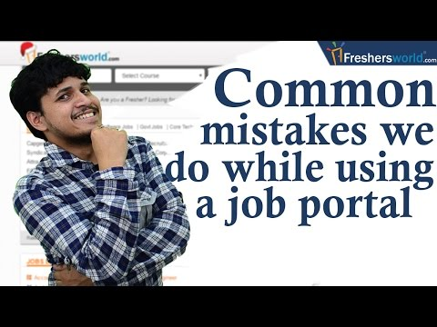 Common Mistakes To Avoid While Searching Jobs Online II  Job portals, Consultancies