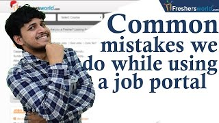 Common Mistakes To Avoid While Searching Jobs Online