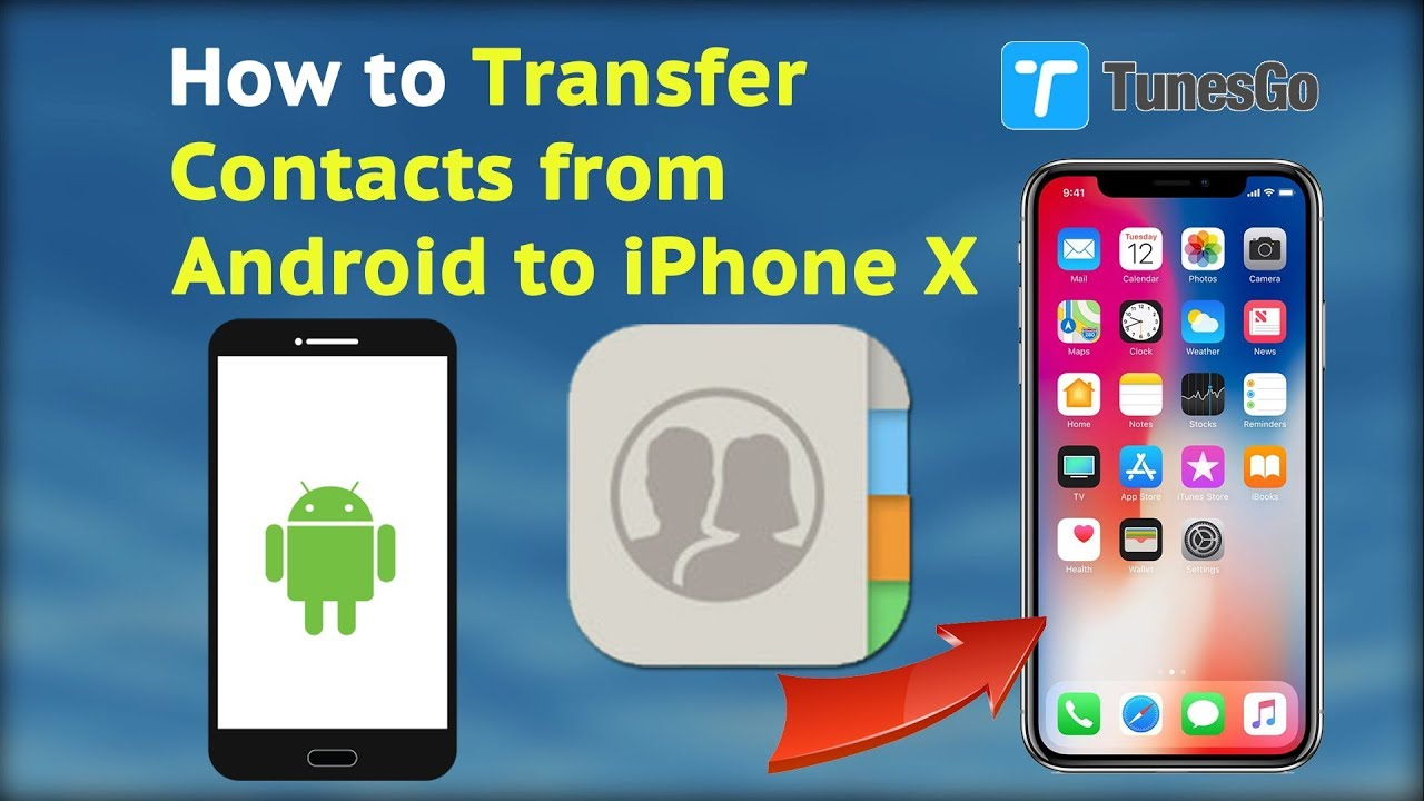 how to add contacts from android to iphone