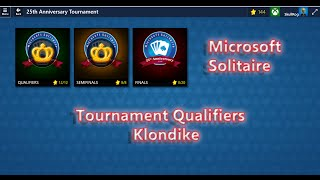 Solitaire - Microsoft Solitaire Tournament Qualifiers Klondike completed. Computer gaming.