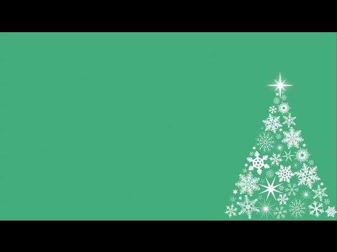 Snowflake Christmas Tree Motion Background - Green - YouTube