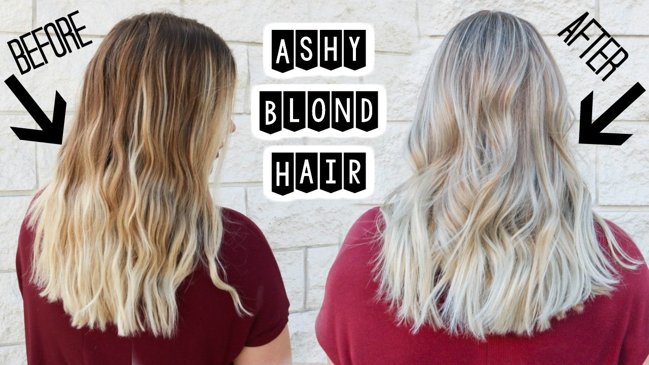 Ashy Blonde Hair Babylights And Smudge Roots Youtube