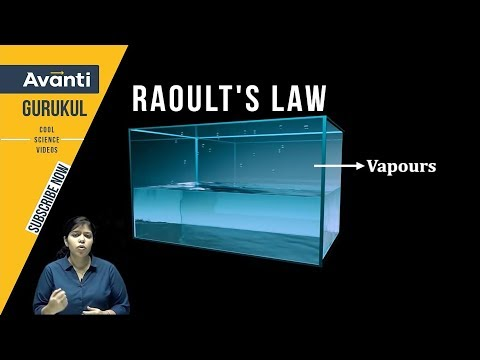 Raoult's Law | Solution | Vapour Pressure | Binary Solution | Class 12 Chemistry | Mohina Mam