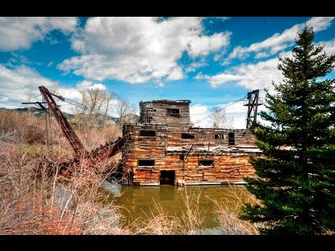 Historic Peggy Gold Dredge - Madison River Valley, Montana MT