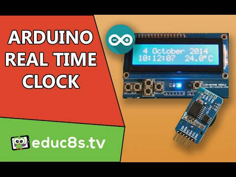 Arduino Project Real time clock (RTC) and temperature monitor using