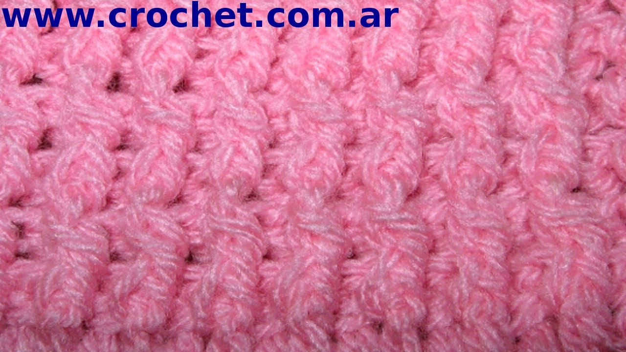 Punto ELASTICO Simple en tejido crochet o ganchillo tutorial paso a ...