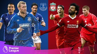 Everton vs Liverpool | Classic Premier League Goals | Arteta, Salah, Suarez