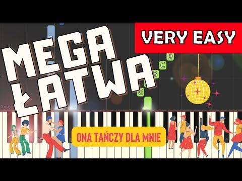 🎹 Ona tańczy dla mnie (Weekend) - Piano Tutorial (MEGA ŁATWA wersja) 🎹