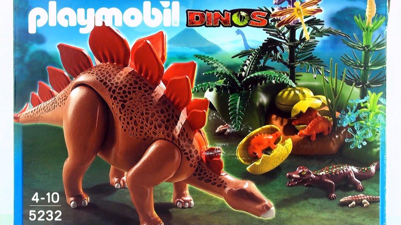 Playmobil dinos stegosaurus dinosaur 5232 toy unboxing for Playmobil dinosaurios