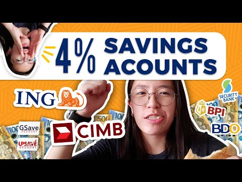 BEST HIGH INTEREST SAVINGS ACCOUNTS for Students & Beginners Philippines 2020 | CIMB, ING, BDO, BPI