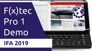 f(x)tec Pro1 walkthrough at Showstoppers an Android productivity device with QWERTY - IFA 2019