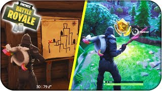 LOCATION MAP DE SECRET TREASURE TORTUSOTTTT! FORTNITE: Bataille Royale - Rubenillo17