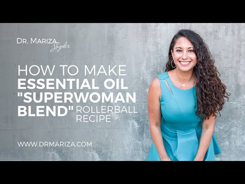 """How to Make Essential Oil """"Superwoman Blend"""" Rollerball Recipe"""