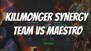 Killmonger Synergy Team vs Maestro - Marvel Contest of Champions