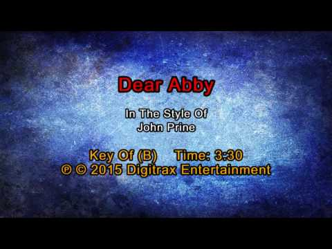 John Prine - Dear Abby  (Backing Track)