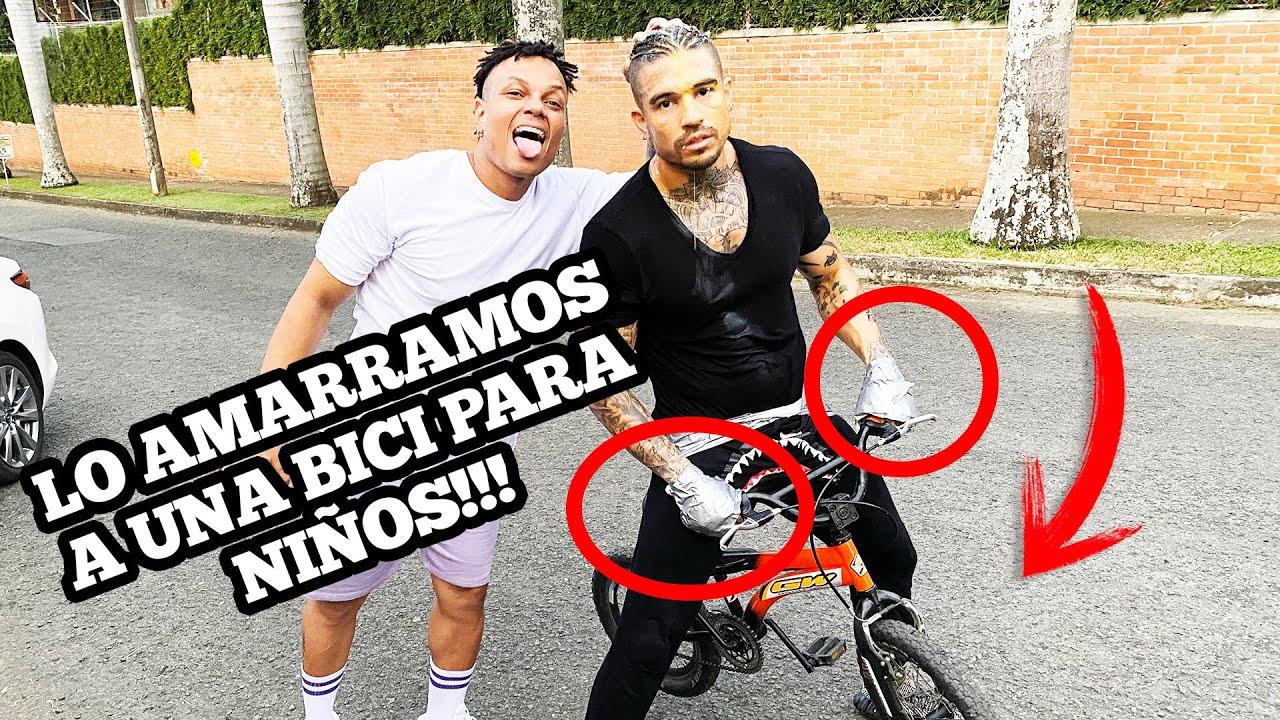 ATAMOS A @BELOSMAKI A UNA BICI PARA NIÑOS!! (Y recorrió 2 KM cuesta arriba!!) - Hablame_Menor